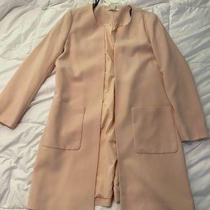 H&M long pink coat